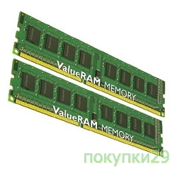 Модуль памяти Kingston DDR3 8GB (PC3-10600) 1333MHz Kit (2 x 8GB) KVR13N9K2/16