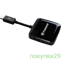 Устройство считывания USB 2.0 Multi-Card Reader P9 All in 1 Transcend TS-RDP9K Black