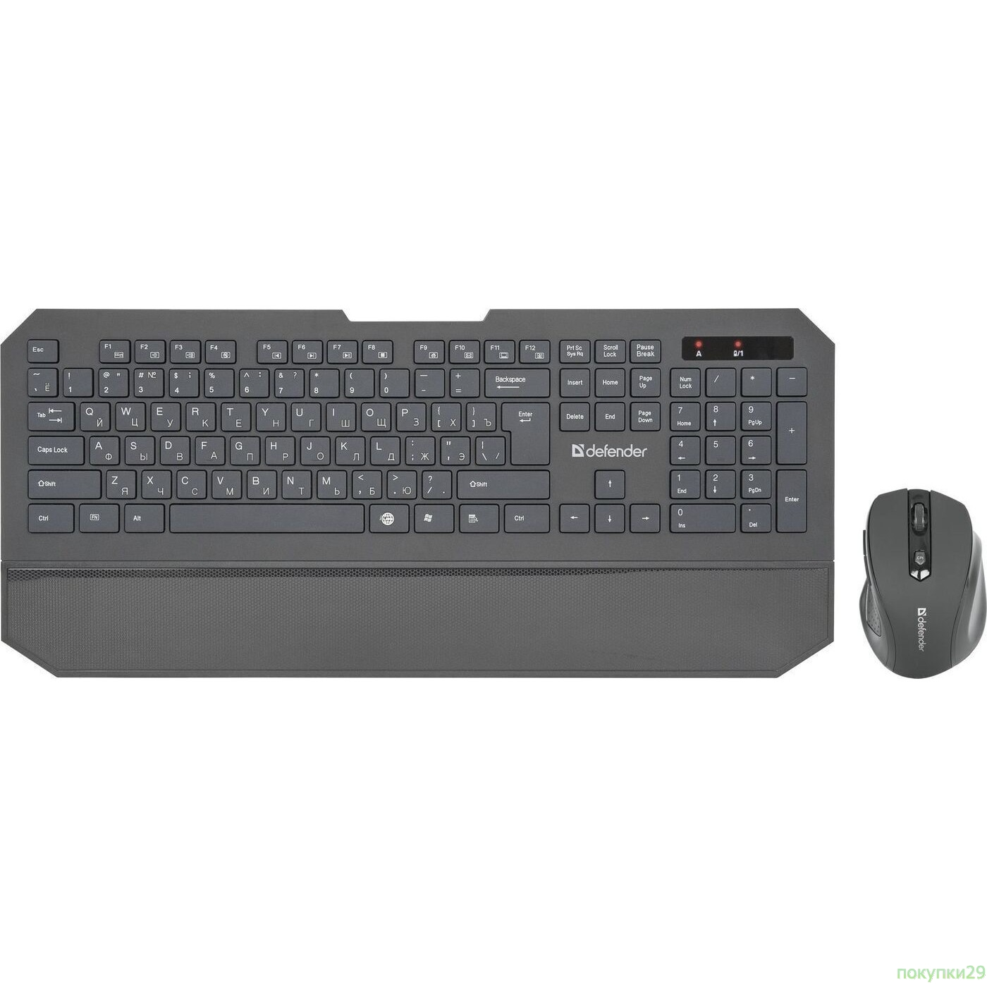 Клавиатура DEFENDER Berkeley C-925 Nano, B (Черн) Кл:104+12 М:6кн, 800/1200/1600