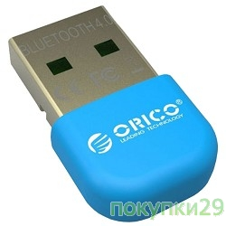 Адаптеры USB Ethernet Orico Адаптер USB Bluetooth Orico BTA-403 (синий)
