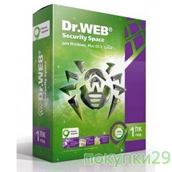 Программное обеспечение ПО DR.Web Security Space 1 ПК/1 год (BHW-B-12M-1-A3)