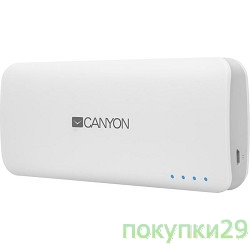 аксессуары Canyon CNE-CPB100W Battery charger for portable device 10000 mAh  (White)
