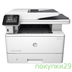 Принтер HP LaserJet Pro MFP M426fdw F6W15A#B19 (p/c/s/f,A4,600x600dpi,up to 4800x600,256Mb,Duplex,2 trays 100+250,ADF 50,USB2.0+Walk-Up/GigEth/WiFi/NFC,ePrint,AirPrint,1y warr,Cartridge 3100 pages.repl.
