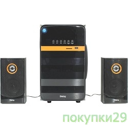 Колонки Dialog Progressive AP-240B BLACK - акустические колонки 2.1, 50W+2*10W RMS, Bluetooth, USB+SD reader