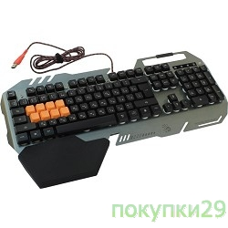 Клавиатура Keyboard A4Tech Bloody B418 Black-Orange USB Multimedia Gamer LED (подставка для запястий)