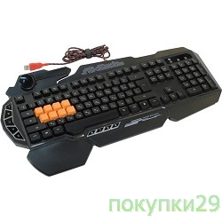 Клавиатура Keyboard A4Tech Bloody B318 Black USB Multimedia Gamer LED (подставка для запястий)