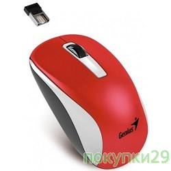 Мышь Genius NX-7010 WH+Red Metallic style. 2.4Ghz wireless BlueEye mouse 1200 dpi powerful BlueEye AA x 1