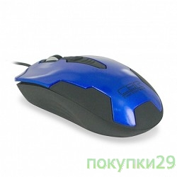 Мышь CBR CM-305 Blue-Black USB, Мышь 1200dpi, 1.28m