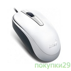 Мышь Genius DX-120 White USB, оптическая, 1000 dpi