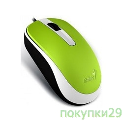 Мышь Genius DX-120 Green USB, оптическая, 1000 dpi