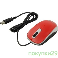 Мышь Genius DX-110 Red USB, Мышь оптическая, 1000 dpi, 3 кнопки