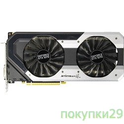 Видеокарта PALIT GeForce GTX1070 JETSTREAM / 8GB GDDR5 256bit / DVI-D, HDMI, 3xDisplayPort / PA-GTX1070 JETSTREAM 8G / RTL