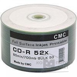 Диск Диски CMC CD-R 80 52x Bulk/50 Full Ink Print