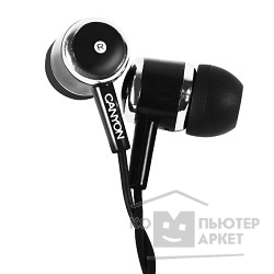 Наушники и микрофоны CANYON CNE-CEPM01B Stereo earphones with microphone, Black