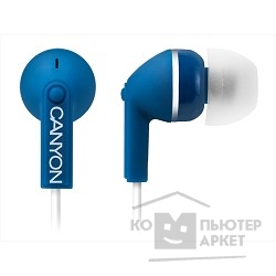 Наушники и микрофоны CANYON CNS-CEP03BL Stereo earphones with micophone, Dark blue