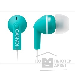 Наушники и микрофоны CANYON CNS-CEP03G Stereo earphones with micophone, Green