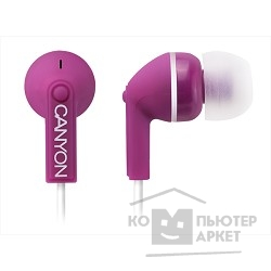 Наушники и микрофоны CANYON CNS-CEP03P Stereo earphones with micophone, Purple