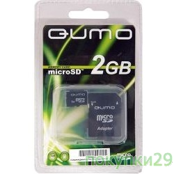Карта памяти  Micro SecureDigital 2Gb  QUMO (QM2GMICSD)