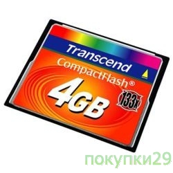 Карта памяти  Compact Flash 4Gb Transcend  (TS4GCF133) 133-x