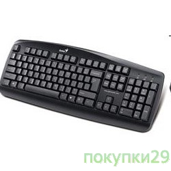 Клавиатура Keyboard Genius KB 110 (PS/2), black, color box