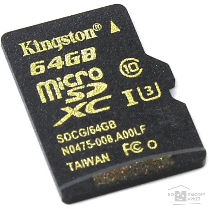 Карта памяти  Micro SecureDigital 64Gb Kingston SDCG/64GBSP