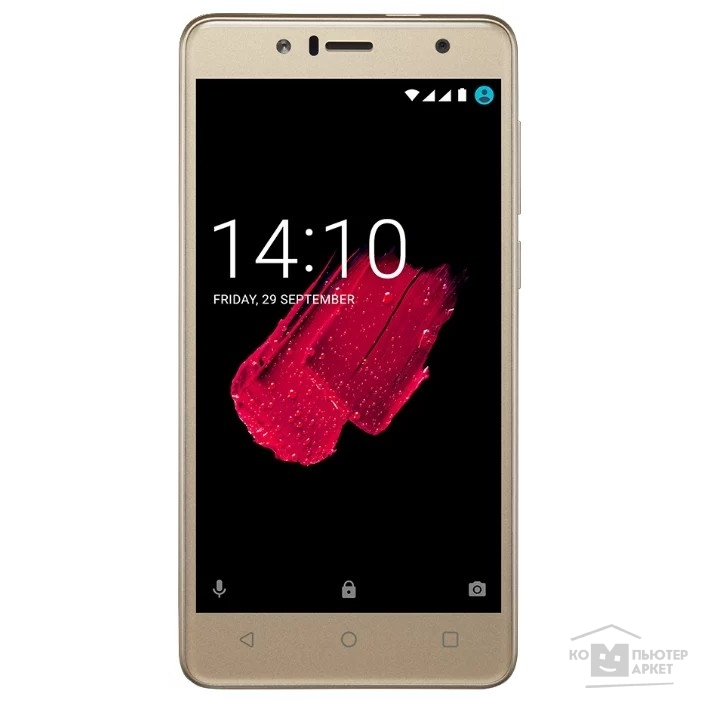 "Мобильный телефон Prestigio Muze B5, PSP5520DUOGOLD, fingerprint scanner,dual SIM, 3G, 5.2""(720*1280)IPS 2.5D display, Android 7.0 Nougat, quad core 1.3GHz,1GB RAM+16GB eMMC, 5.0MP front + 13.0MP AF rear camera with"