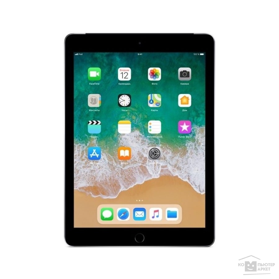 Планшетный компьютер Apple iPad Wi-Fi + Cellular 32GB - Space Grey (MR6N2RU/A) (2018)