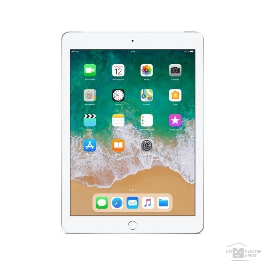 Планшетный компьютер Apple iPad Wi-Fi + Cellular 32GB - Silver MR6P2RU/A (2018)