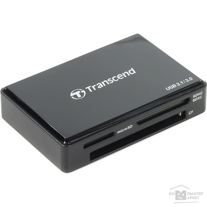 Устройство считывания USB 3.1 Multi-Card Reader C8 All in 1 Transcend TS-RDC8K Black