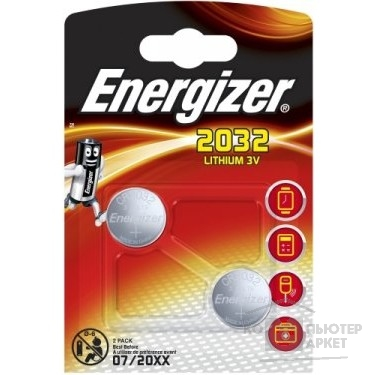 Батарейки Energizer Ultimate Lithium CR 2032 FSB2  (2 шт. в уп-ке)