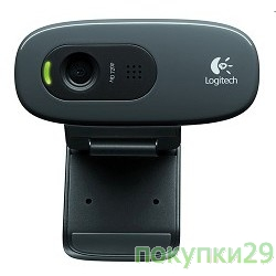 Цифровая камера 960-000636 Logitech HD Webcam C270, USB 2.0, 1280*720, 5Mpix foto, Mic, Black