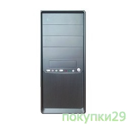Корпус Miditower SP Winard 3010 450W black/silver 2*USB 2*Audio 24pin ATX