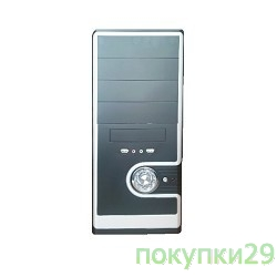 Корпус Miditower SP Winard 3029 C 450W black/silver 2*USB 2*Audio 24pin ATX
