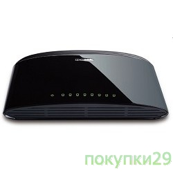 Сетевое оборудование D-Link DES-1008D/RU/J1A/J2A 8-port UTP 10/100Mbps, Switch Palm-top, Unmanaged, Desktop