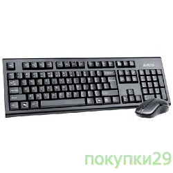 Клавиатура A4Tech 3100N, 2.4G X-Far Wireless V-Track Desktop USB ,черный