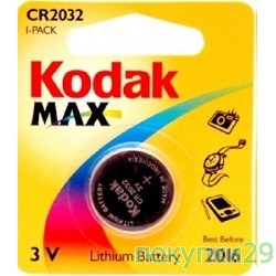 Батарейка Эл. пит. Kodak CR2032-1BL NEW (1 шт. в уп-ке)