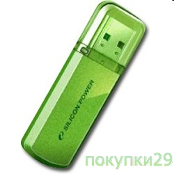 Носитель информации USB 2.0 Silicon Power USB Drive 16Gb, Helios 101 SP016GBUF2101V1B, Green