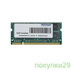 Модуль памяти Patriot DDR2-800 (PC2-6400) 2GB SO-DIMM PSD22G8002S
