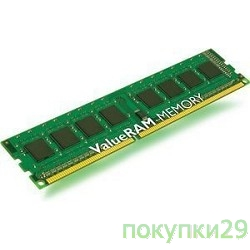 Модуль памяти Kingston DDR-III 4GB (PC3-10600) 1333MHz KVR13N9S8/4 CL9