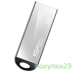 Носитель информации USB 2.0 Silicon Power USB Drive 32Gb, Touch 830 SP032GBUF2830V1S, нерж. сталь