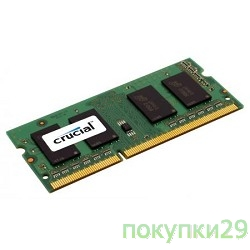 Модуль памяти Crucial DDR3-1600 4GB SO-DIMM CT51264BF160B