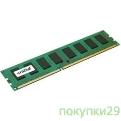 Модуль памяти Crucial DDR-III 8GB (PC3-12800) 1600MHz CT102464BA160B