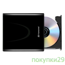Внешние приводы Transcend Slim DVD±RW TS8XDVDS-K, Black (RTL) Ultra Slim ext. (726853)