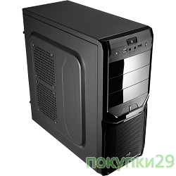 "Корпус Корпус Miditower Aerocool""V3X Black Edition"", ATX,черный (без БП) EN57417"