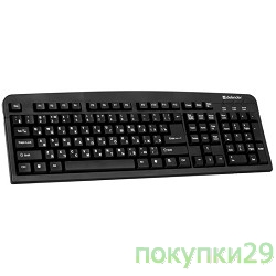 Клавиатура Keyboard Defender Element HB-520 USB B(Черный) (45522)