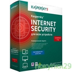 Коробочное программное обеспечение KL1941RBBFS Kaspersky Internet Security Multi-Device Russian Edition. 2-Device 1 year Base Box