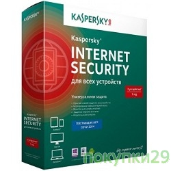 Коробочное программное обеспечение KL1941RBBFR Kaspersky Internet Security Multi-Device Russian Edition. 2-Device 1 year Renewal Box