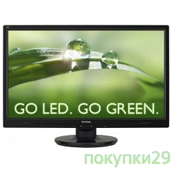 "Монитор LCD ViewSonic 23.6""VA2445-LED Glossy-Black FullHD LED 5ms 16:9 DVI 10M:1 250cd"