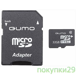 Карта памяти  Micro SecureDigital 32Gb  QUMO (QM32GMICSDHC10U1) CL10 UHS-I