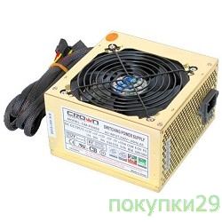 Блоки питания Кроун Блок питания CROWN CM-PS450W smart   (20+4in, 120mm FAN, SATA*2, PATA(big Molex)*4, FDD*1, 4+4pin, Lines 1x12V OEM